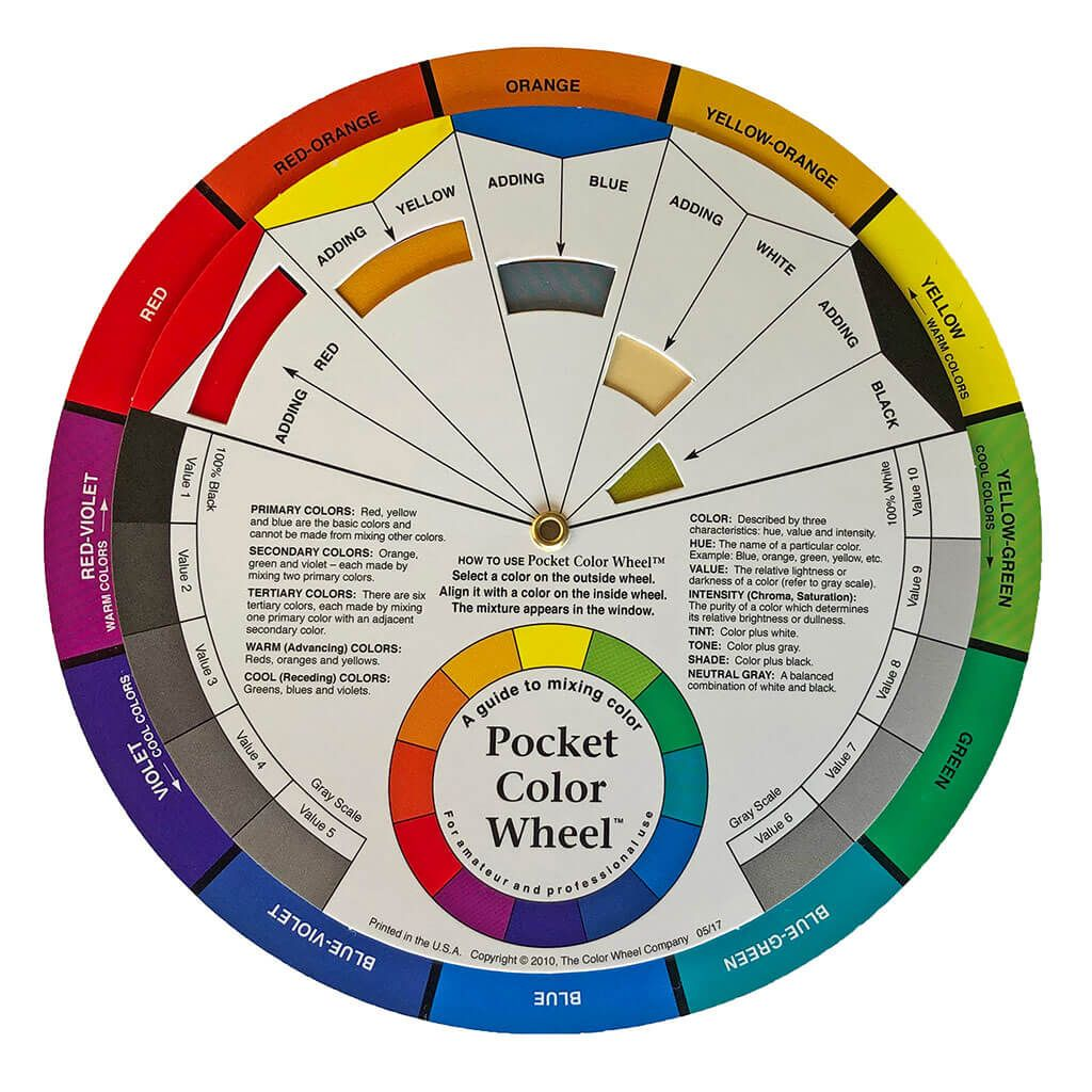 Color wheel.<span>Learn about color theory. Mixing & using colors.</span>