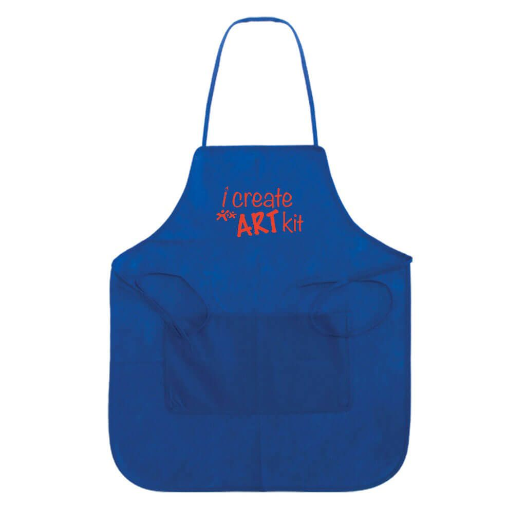Aprons.<span>Available in blue or ivory.</span>