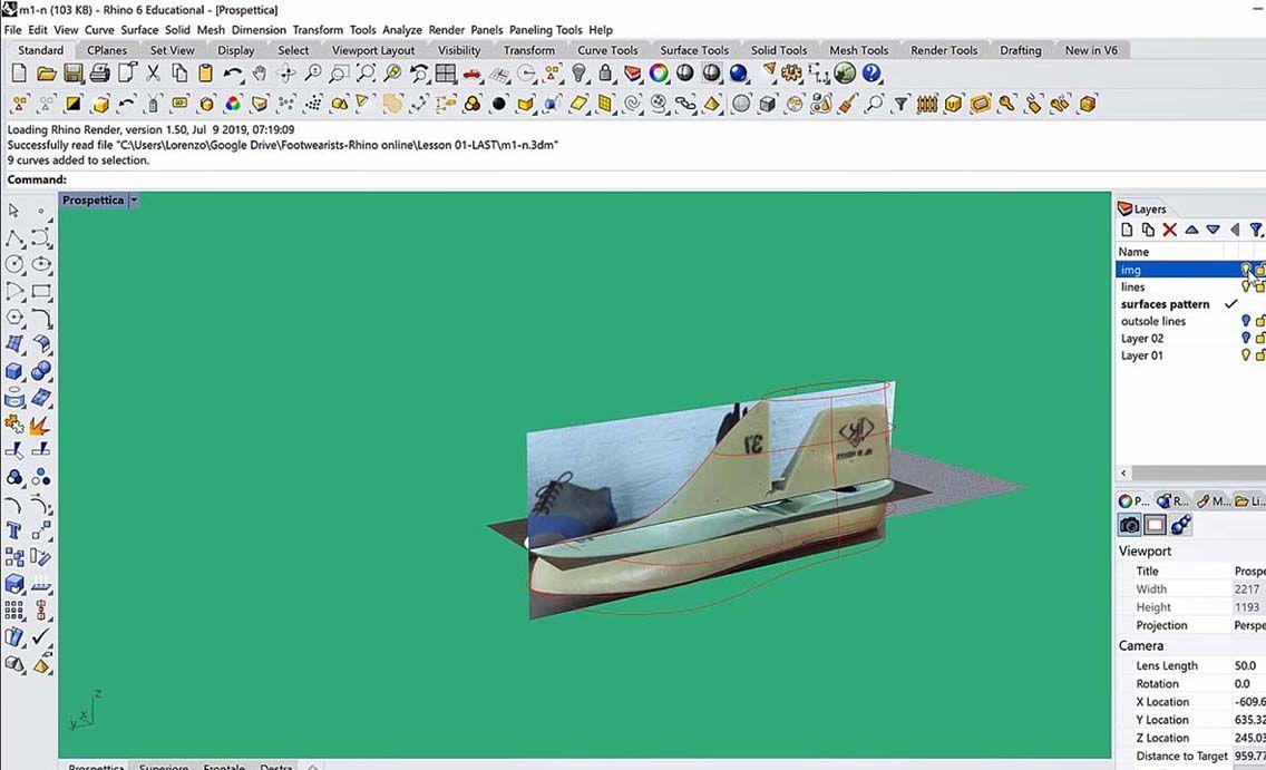 3D footwear design in Rhino